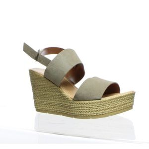 Seychelles Downtime Wedge Sandal Suede Taupe